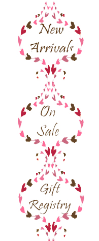 New Arrivals, On Sale, Gift Registry
