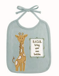 """B.Y.O.B. bring your own bottle"" Bib"