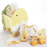 Just Hatched 7-Piece Layette Set in Charming &quot;Chick&quot; Wagon