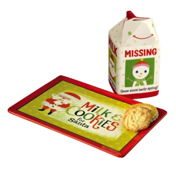 Milk Carton & Cookie Plate Gift Set