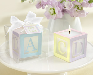 B is for Baby Lettered Baby Block Candle (Set of 4)