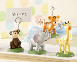 """Born To Be Wild"" Animal Place Card/Photo Holders (Set of Four Assorted)"