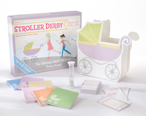 """Stroller Derby"" Baby Shower Trivia Game"
