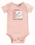Embroidered Don't Hate Me... Appliqued Baby Onesie by Grasslands Road