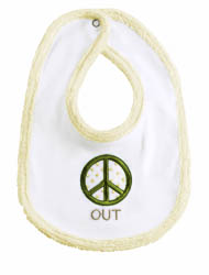 Baby It's You 'Peace'  Bib