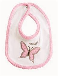 Baby It's You 'Social' Butterfly  Bib