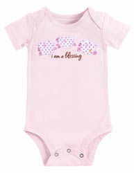Bundle of Blessings 'I am a Blessing' Pink Onesie