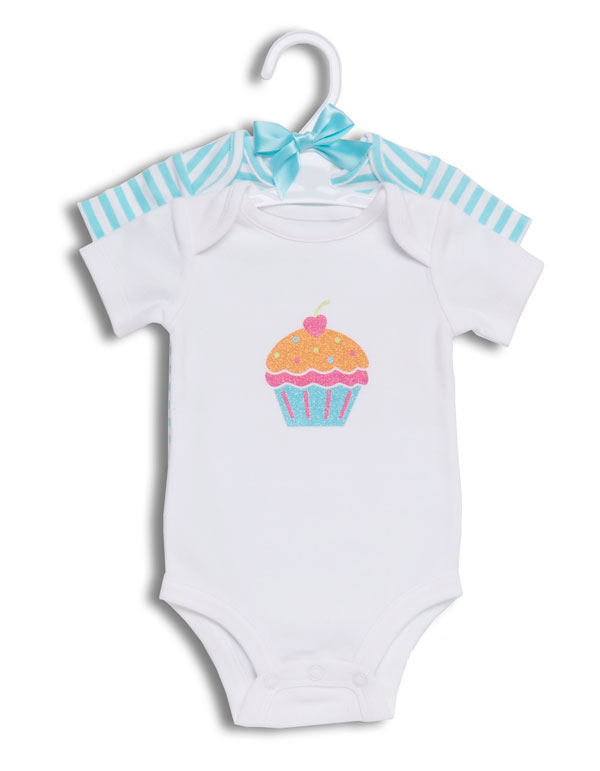 Tu-Tu Collection 2 pack Bodysuit Cupcake