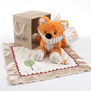 &quot;Fox in a Box&quot; Plush Fox and Lovie Gift Set
