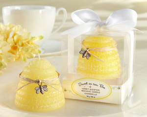 """Sweet As Can Bee"" Honey-Scented Beehive Candle (Set of 4)"