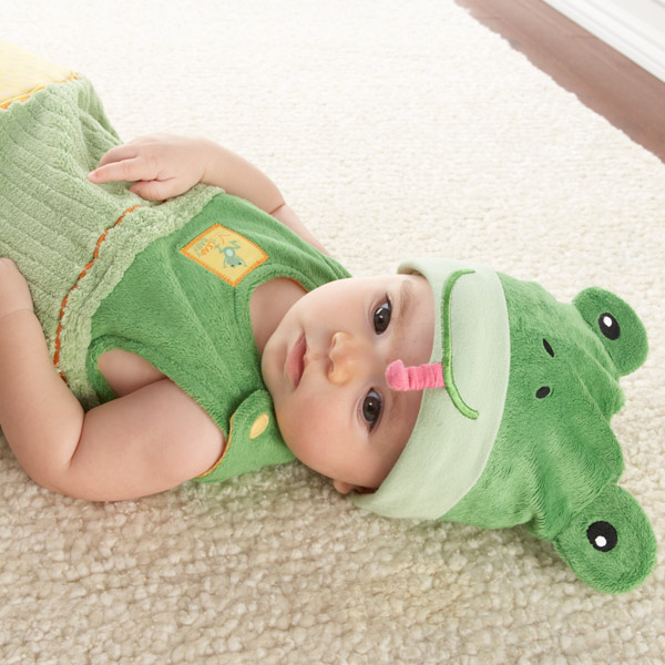 &quot;sLEAPy Baby&quot; Frog Snuggle Sack