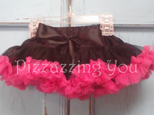 Black and Hot Pink Pettiskirt