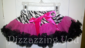 Zebra and Hot Pink Pettiskirt