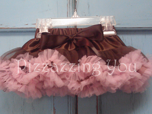 Brown and Pink Pettiskirt
