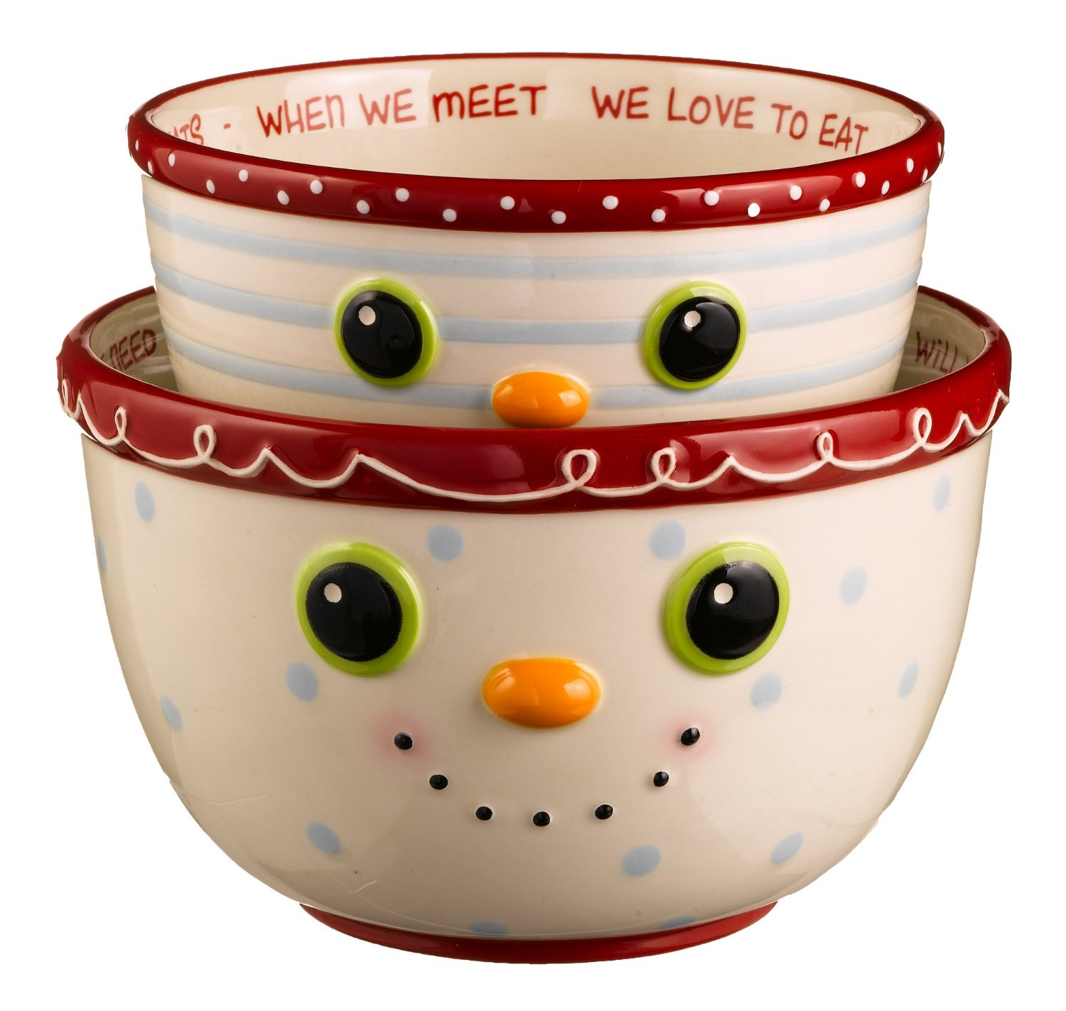Grasslands Road Holiday Baker Sweet Tidings Nested Bowl Set of 2