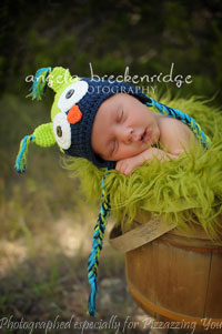 Green / Navy Owl Hat