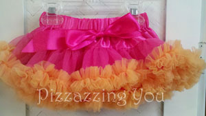 Hot Pink and Orange Sherbet Pettiskirt