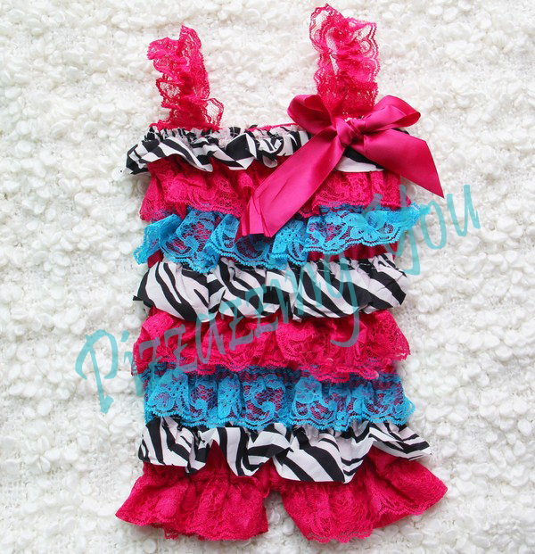Hot Pink Zebra Petti Romper