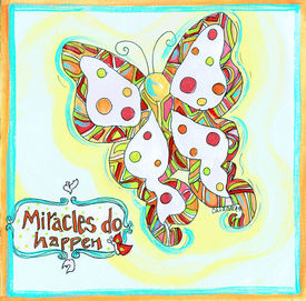 Miracles Do Happen Butterfly Square
