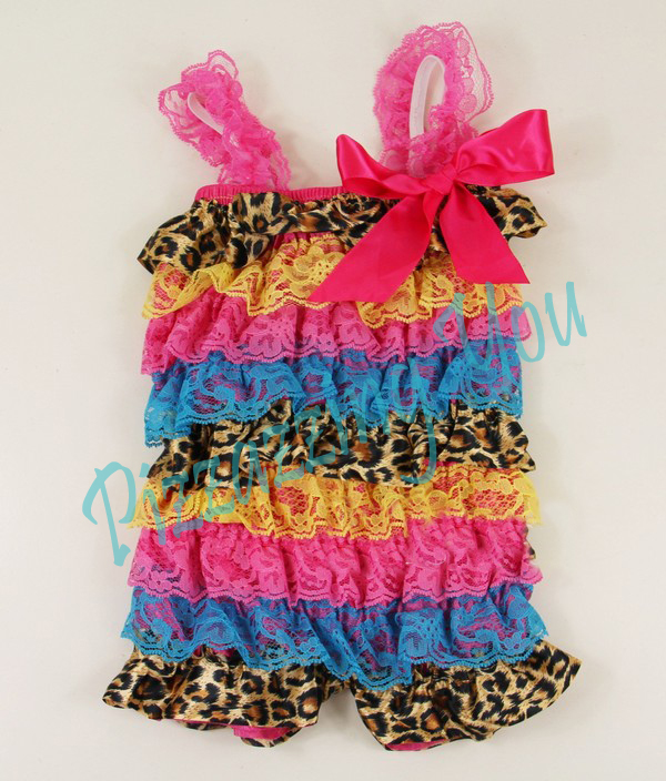 Pink, Yellow, Leopard Petti Romper