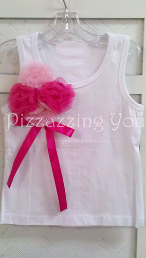 Hot Pink and Pink Rosettes Tank