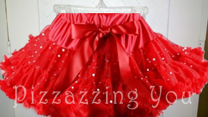 Red Sparkle Pettiskirt