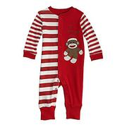 "Baby Starters Newborn ""I Love My Sock Monkey"" Footless Romper"