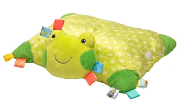Taggies Plush Frog Pillow