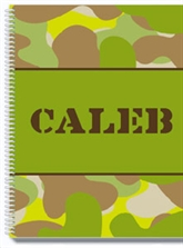 Camo Personalized Notebook