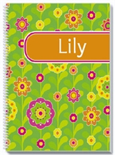 Flower Fields Personalized Notebook
