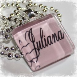 SIMPLICITY Personalized Glass Pendant Necklace